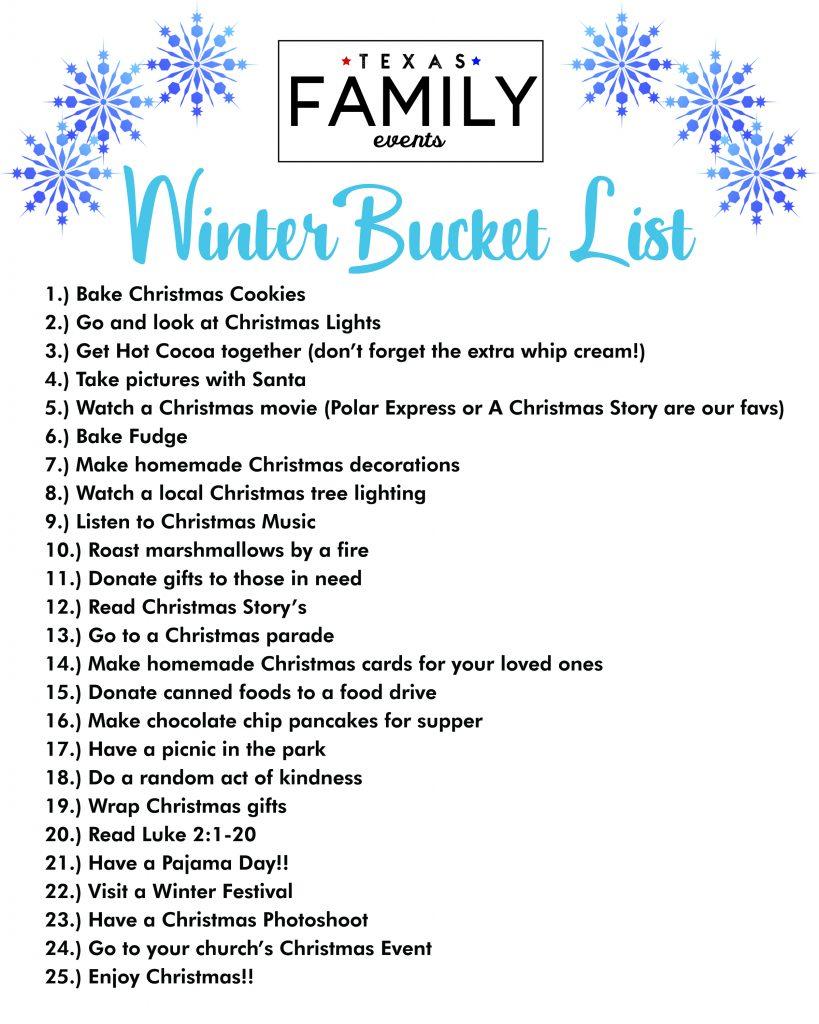 Christmas Bucket List Texas Family Events